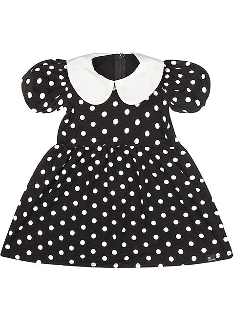 47d097381f3 The Tiny Universe Polka Dress in Black White – Lusso Kids Inc.