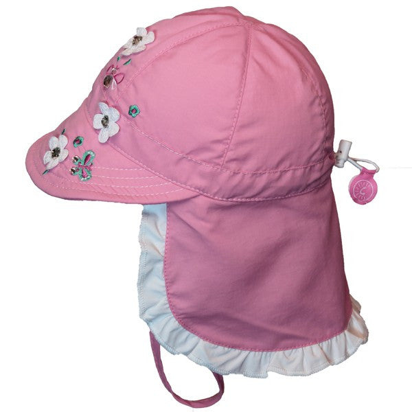 Calikids Girls UV Quick Dry Hat in Pink