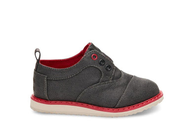 Tiny Toms Brogues Shoes in Ash Twill