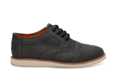 Tiny Toms Brogues Youth Shoes in Ash Twill