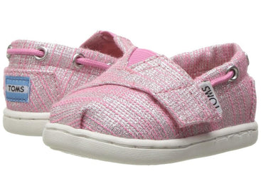 Tiny Toms Bimini Shoes in Peony Slubby Metallic
