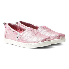 Tiny Toms Bimini Youth Shoes in Peony Slubby Metallic