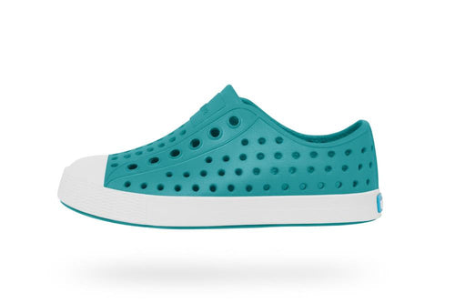 Native Shoes Jefferson Child in Iris Blue and Shell White
