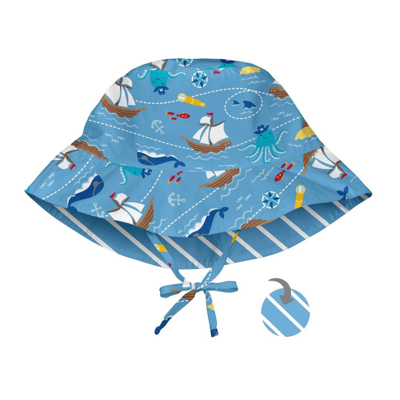I play Mix & Match Reversible Bucket Sun Protection Hat in Royal Viking Sea