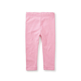Tea Collection Striped Capri Leggings in Astilbe Pink