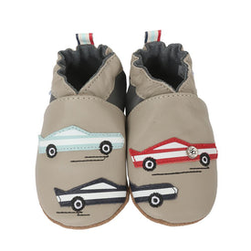 Robeez Race You Shoes in Pale Grey