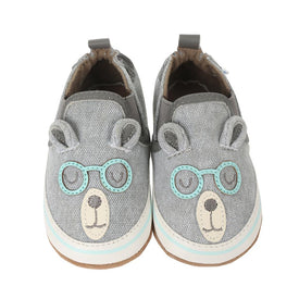 Robeez Brainy Bear Shoes in Grey