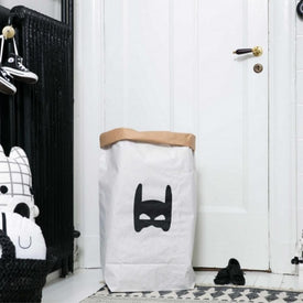 Paper Toy Bag Superhero Black