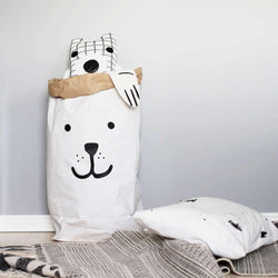 Paper Toy Bag Bear Black