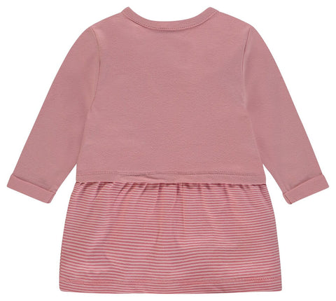 Noppies G Dress Ls Teodoro in Old Pink