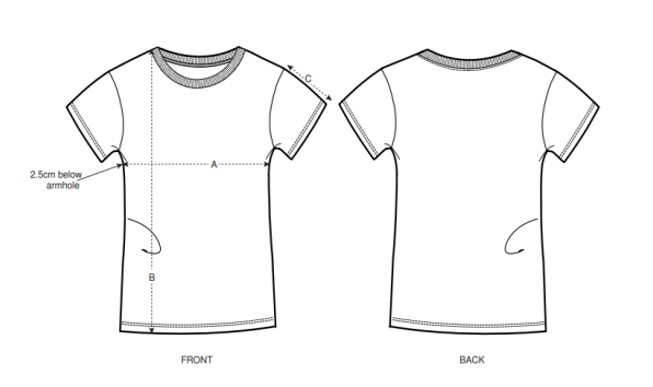 Fitted T-Shirt Size Chart