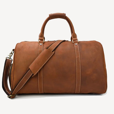 Cheops Leather Travel Bag Brown