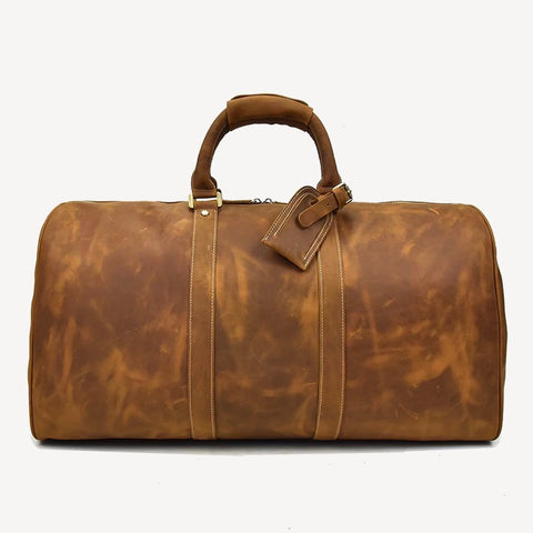 Rhodes Leather Duffel Bag Brown