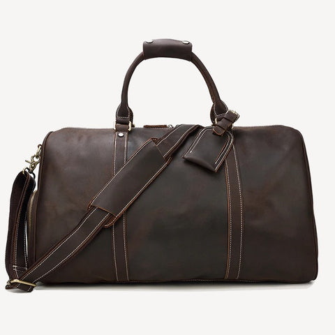 Best Leather Travel Bag Brown