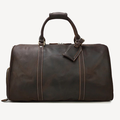 Cheops Leather Travel Bag Mens