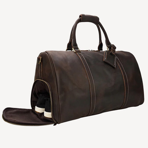 Cheops leather travel bag
