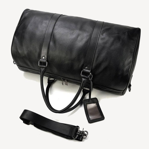 Duffle Bag Leather Black