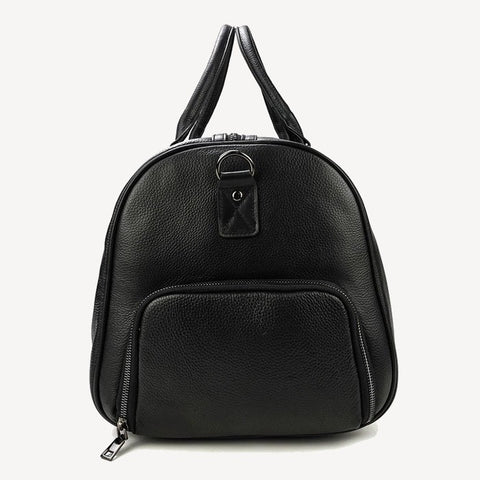 Duffle Leather Bag Black