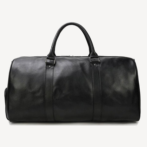 Leather Travel Bag Black