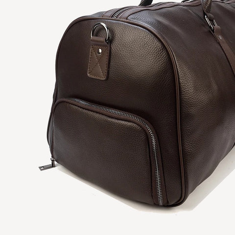 Leather Travel Bag Brown