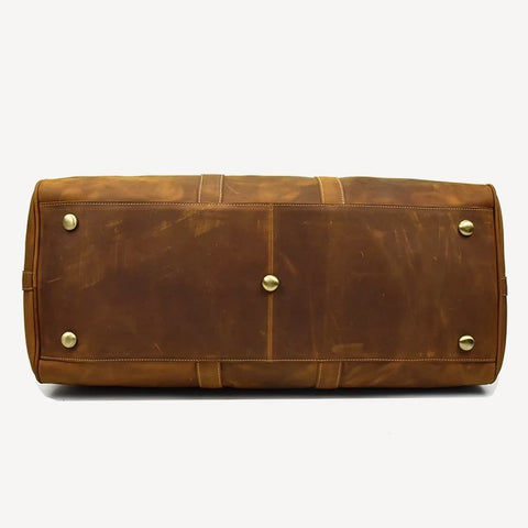 Leather Duffel Bag Light Brown