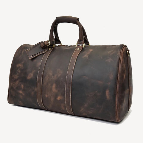 best leather duffel bags for men