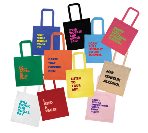 express yourself tote bags