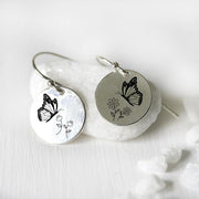 S925 Sterling Silver Butterfly Bee Earrings Nature Jewelry Gifts For Women Girls