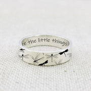 925 Sterling Silver Personalized Dragonfly Ring Dragonfly Jewelry Appreciate The Little Things