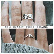 Couple Rings 925 Silver Promise Ring Set His and Hers Matching Ring Couple Ring Promise Rings For CouplesGirlfriend Boyfriend Silver Wedding Bands Set BFL