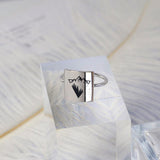 S925 Sterling Silver Inverted Triangle Mountain Ring