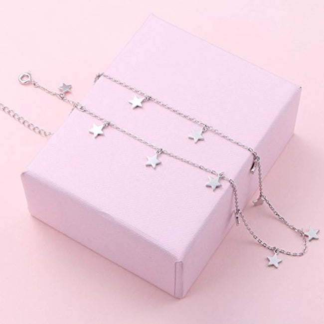 Sterling Silver Jewelry Choker Necklace Pendant Disc Chain Statement Necklace For Women Girls