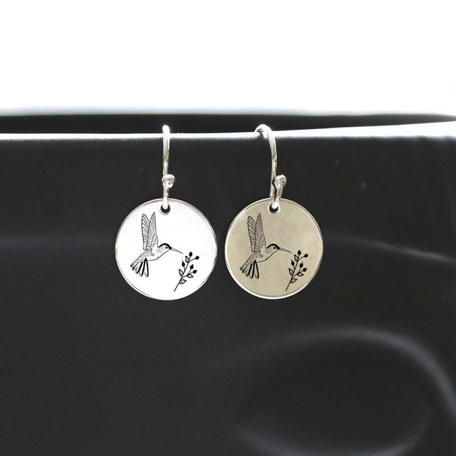 S925 Sterling Silver Hummingbird Nature Earrings Hummingbird Jewelry Gifts For Women Girls