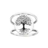 Tree Of Life Ring 925 Sterling Silver Tree Rings Nature Ring Mothers Day Gift For Mom Wife Big Sis