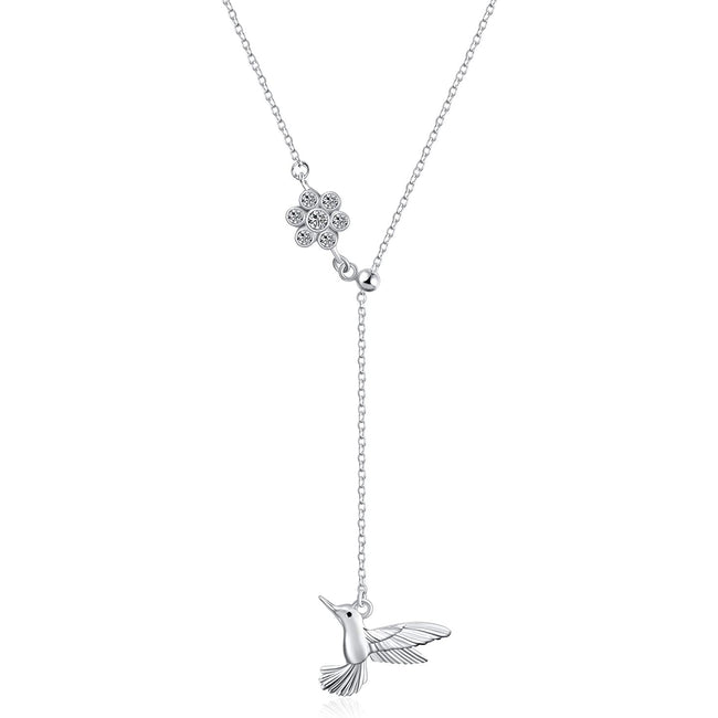 Hummingbird Necklace Sterling Silver Hummingbird Pendant Necklace Hummingbird Jewelry for Women Gifts