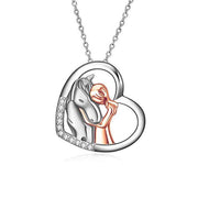 925 Sterling Silver Horse Pendant Necklace Gifts for Little Girl Daughter Kids Grandaughter