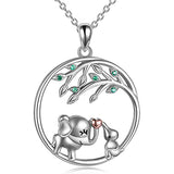 Mama Elephant Necklace Sterling Silver Mother And Daughter Elephant Pendant Jewelry Mother's Day Gift Birthday Gifts for Women