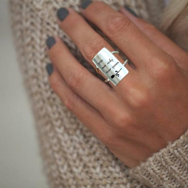 S925 Sterling Silver You Are Only Ever Yours Ring Inspirational Ring