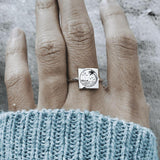 S925 Sterling Silver Beach Ring Nature Camping Ring Gift for Outdoor Lover