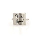 925 Sterling Silver Do It Afraid Inspirational Ring