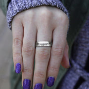 Lavender Ring 925 Sterling Silver Personalized Engraved Band Ring
