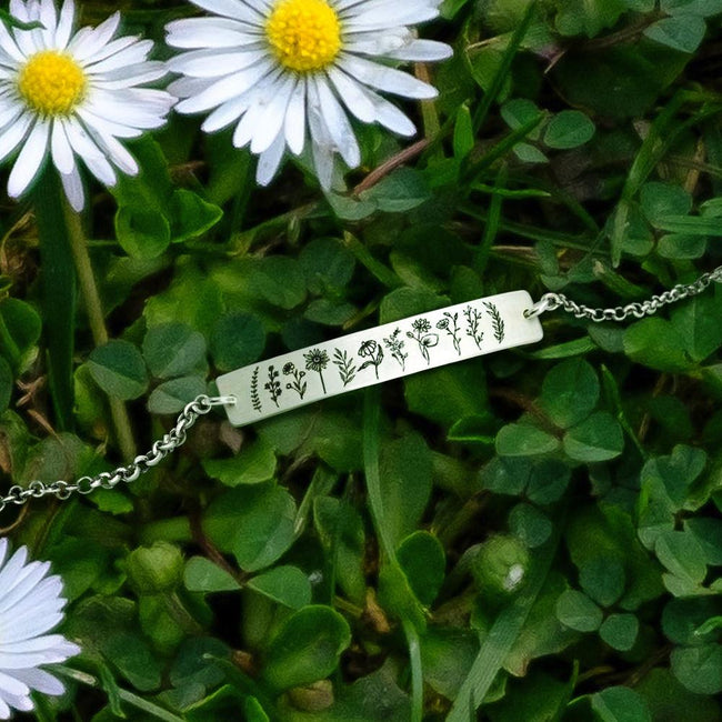 S925 Sterling Silver Wildflower Nature Bracelet