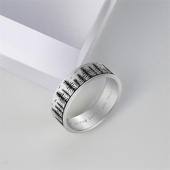 Pine Tree Ring S925 Silver Handmade Ring