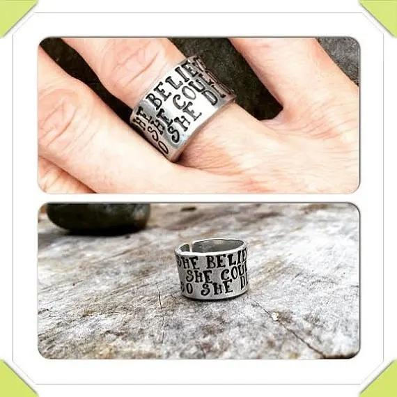 She Believed She Could So She Did Inspirational Ring