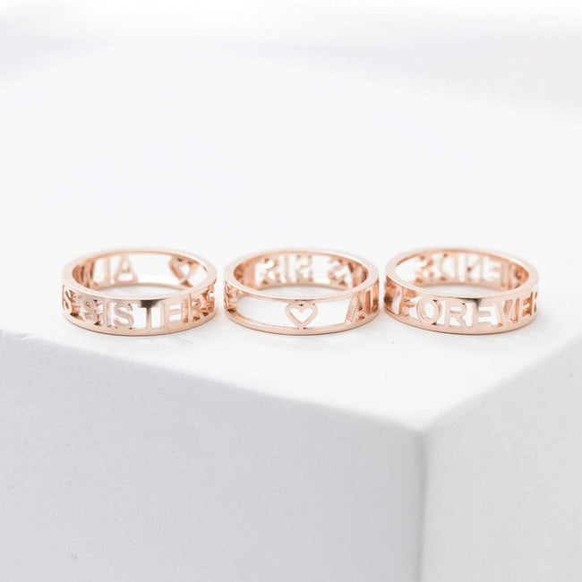 Modern Name Ring • Roman Numerals Ring • Custom Date Ring • Personalized Gifts • Anniversary Ring • Mothers Gift • Grandma Gift