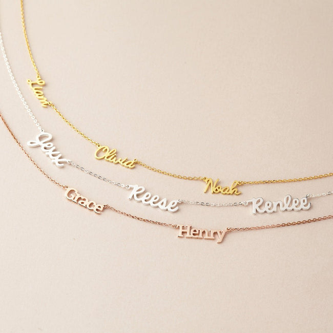 Multiple Name Necklace Personalized Jewelry