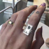 925 Sterling Silver The Star Tarot Card、The Sun、La Luna Ring  Tarot Card Ring