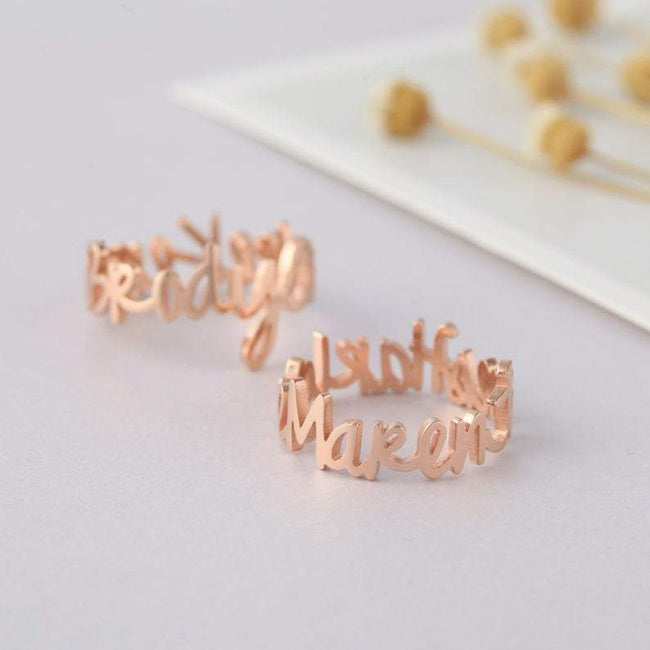 Mother's ring • Mommy ring • Kids' Names Ring • Mom Gift from Daughter • Birthday Gifts for Mother • Children's Name Ring • Silver Mom Ring • ONLY FOR U BFL