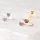Double Heart Fingerprint Ring • Custom Fingerprint Ring • Personalized Fingerprint Jewelry • Wrap Coil Ring • Memorial Gift