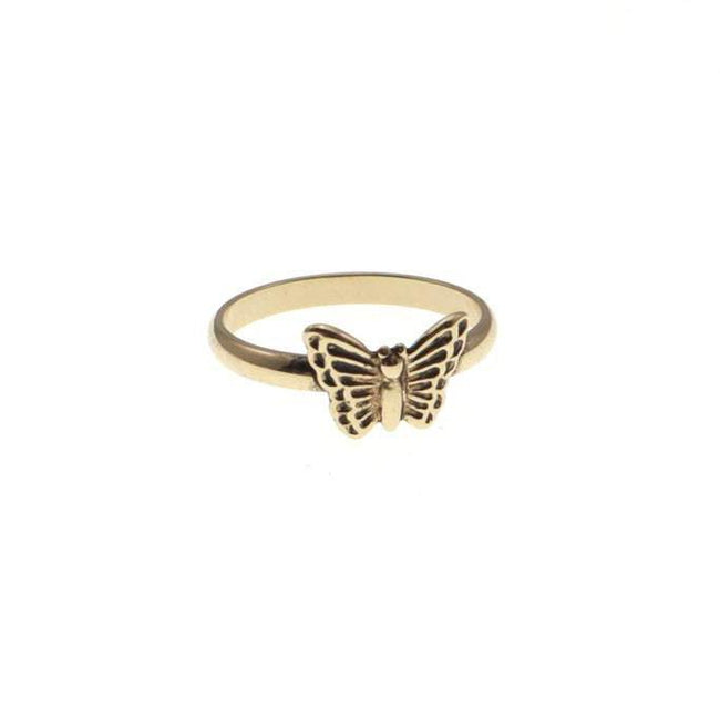 Small Butterfly Ring, Sterling Silver Finish,  Butterfly Stacking Ring, Butterfly Jewelry